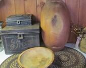 Wooden Primitive Bowls Handmade wooden Nesting bowls Hand Crafted Wooden Bowls Bowl Farmhouse Serving Bowl Large Stoware Stowe Vt Treenware