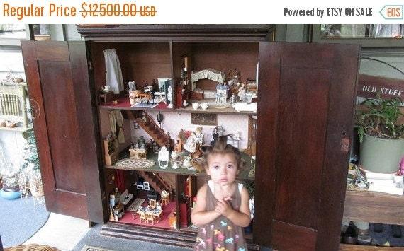 image 0 - SALE 1860s Antique Dollhouse With Contents Grannies Secret Etsy
