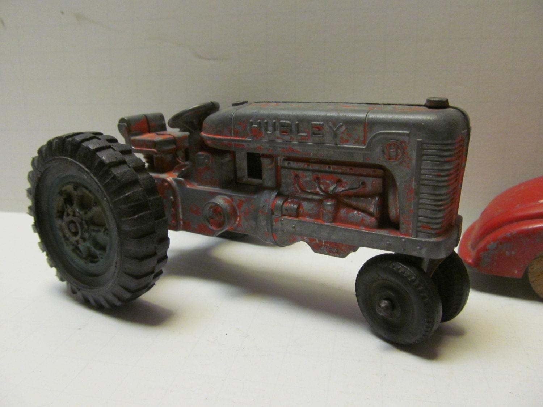 Metal Toy Tractors >> Hubley Tractor Vintage Toy Tractors Hubley Toys Antique Toy Tractor Red Tractor Old Metal Tractors