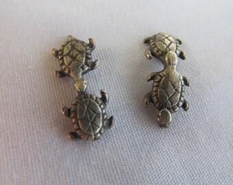 Sterling Silver Turtles Sterling Silver Jewelry Supplies Turtle Jewelry Making Supplies turtle collector Turtle figurines