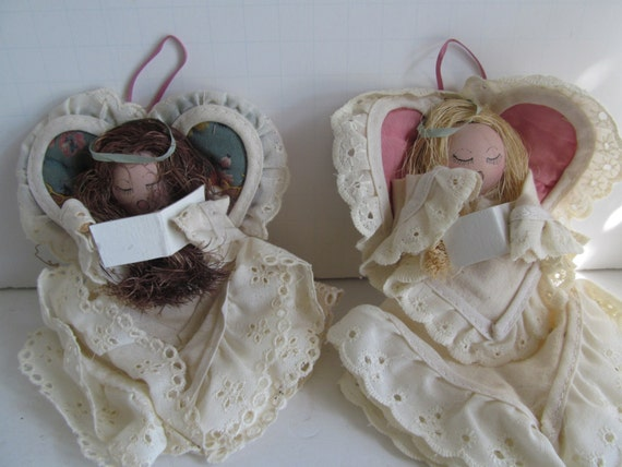 Angel Ornaments Old Vintage Quilt Lace Angel Doll Best Friends Gift Idea  Christmas Angel Decor Quilt Lovers Gift, Made from quilts