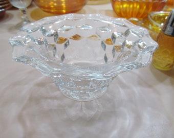 Fostoria American glassware Block Optic Cube Block Pattern Art Deco Clear Depression Glass Fostoria Glass Co. Fostoria American Bowls