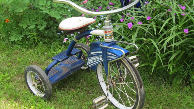 Antique Tricycle Murray Tricycle 3 Wheeler Bike 2 Step Tricycle Fender  Skirt Bicycle Vintage Tricycle Ride on Toys 50s Bicycle Restoratation