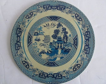 Blue Willow Tea Tiles Blue Willow Hot Plates Blue and White Decor Willow ware Vintage Blue Willow China Plates Blue Willow Trivet Japan