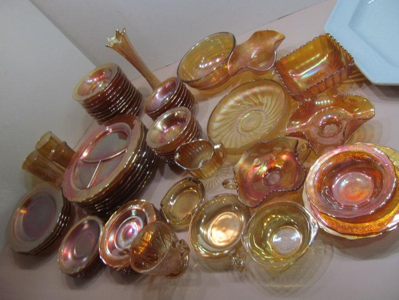 Bohemian Amber Glass Ash Tray Smokers Gift Bohemian Decor Amber Iridescent Glass Smoking Lounge Decor Vintage ash Trays Glass
