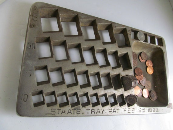 Antique Staats Coin Bank Coin Tray Vintage Banks Money