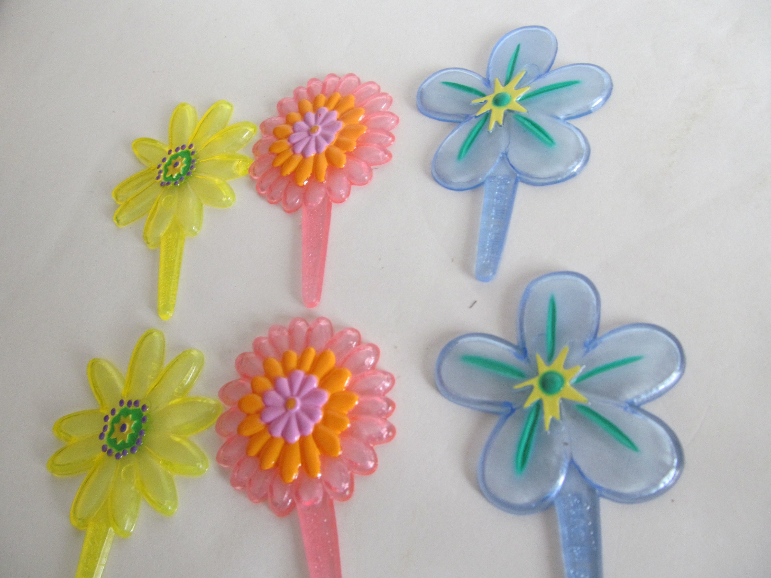 Vintage cake toppers flowers cupcake toppers flower power etsy zoom izmirmasajfo