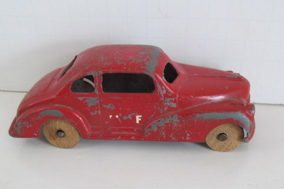 Art Deco Toy Car Coupe Chippy Red Pain Wooden Wheel Cars Antique Toy R Farmhouse Dollhouse Plans on dallas farmhouse plans, dollhouse books, dollhouse modern, house farmhouse plans, dollhouse bed, dollhouse farmhouse kits, greek farmhouse plans,
