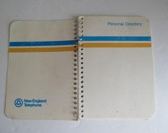 Vintage Telephone New England Telephone Paper Ephemera Telephone book Personal Directory