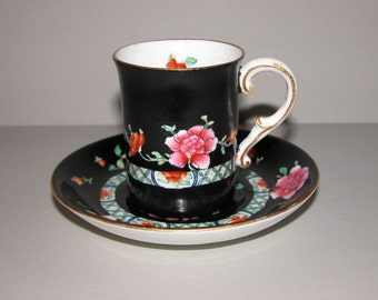 Rare Antique George Jones and Sons, Crescent Ware & Sons Demitasse Cup and Saucer