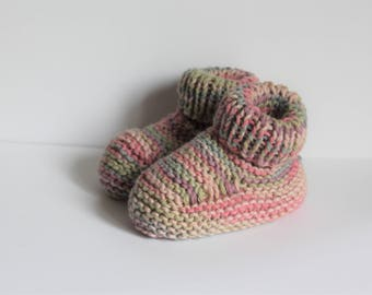 Hand Knitted Baby Booties  knitted in Baby Cotton Yarn