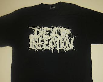 Dead Infection Logo T Shirt AgathoclesGUTCBT Regurgitate Rompeprop Mortician Grindcore Goregrind Tee