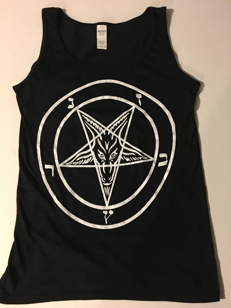 XL BAPHOMET Tank Top T Shirt Satan satanic clothing Gothic witchcraft goth  S