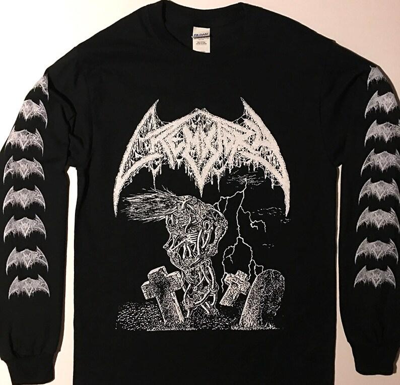 6a1f6bd889ef CREMATORY Long Sleeve with Logo sleeveprint T shirt Swedish   Etsy