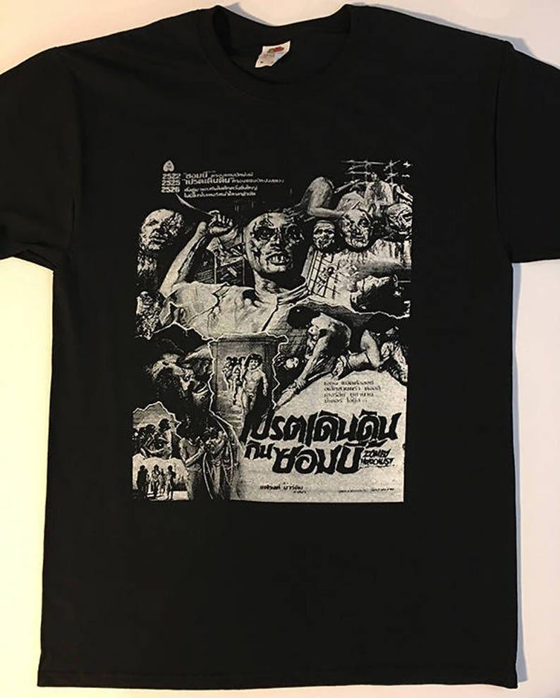 663c9eec00d ZOMBI HOLOCAUST T shirt Thai Artwork Mens Horror Shirt for