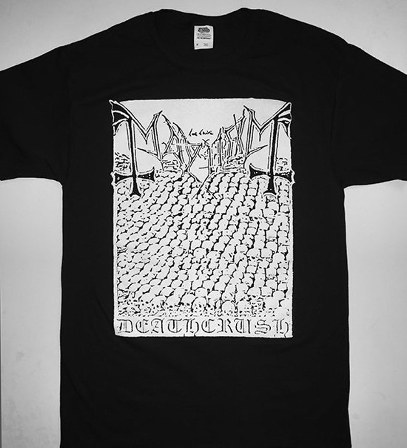 Nouveau Mayhem Trash Metal Band Logo Hommes T-Shirt Noir Taille S M L XL 2XL 3XL