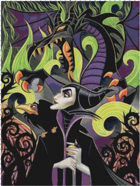 Maleficent Forces Of Evil Fan Art Pdf Cross Stitch Pattern