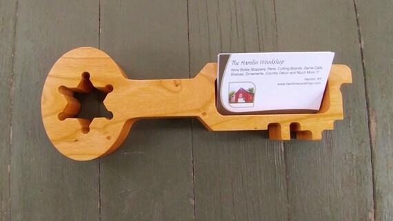 Visitenkartenhalter Geschnitzte Holz Gefängnis Schlüssel Korrekturen Offizier Visitenkartenhalter Gefängnis Stellvertretender Schlüssel Gefängnis