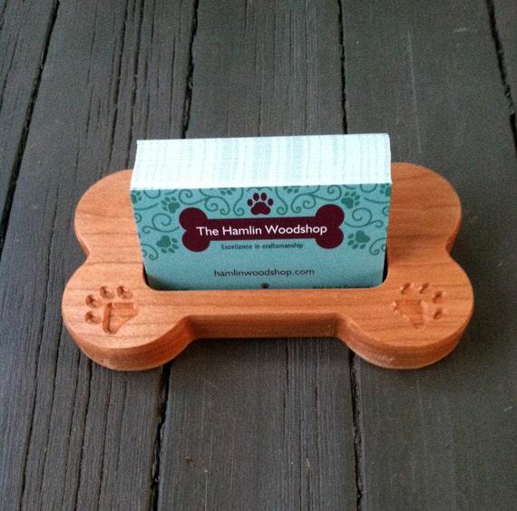 Visitenkarte Halter Geschnitzte Holz Hund Knochen Hund Karte Halter Haustier Visitenkarte Halter Holz Hund Knochen Geformt Gravierte Visitenkarte