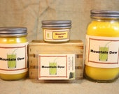 Mountain Dew Scent Candles and Wax Melts, Beverage Scent Candle Wax, Highly Scented Candles and Wax Tarts, Great Gift for Mt Dew Lover