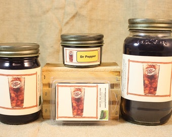 Dr Pepper Scent Candles and Wax Melts, Soda Scent Candle, Highly Scented Candles and Wax Tarts, Great Gift for the Dr Pepper Lover