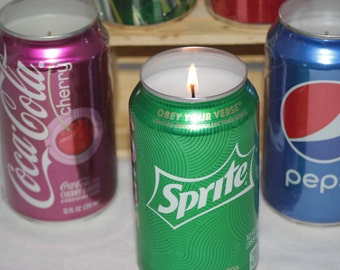 "Soda ""Can""dles, Soda Pop Candles, Cola Candles, Upcycled Soda Cans"