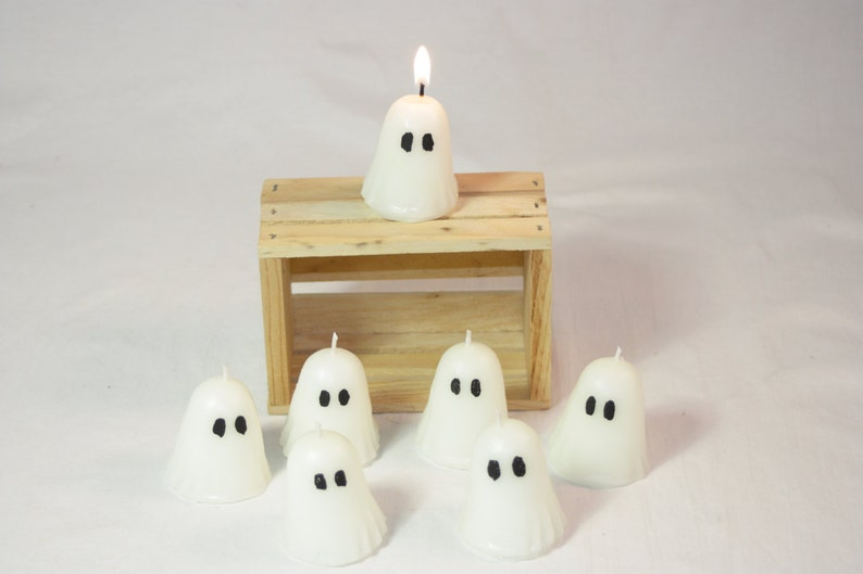 Votive Ghost Candle Halloween Ghost Decoration Cute Votive image 0