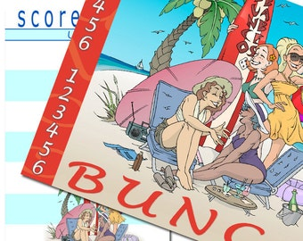 Bunco scorecards with matching scoresheets (pack of 12)