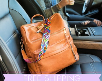 MELEA Convertible Bag   Color Strap   Backpack Handbag   Free Shipping   Ships from USA   Vegan Leather   Trendy Boutique Handbag