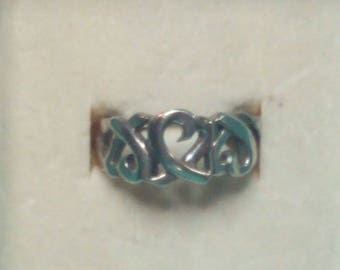 a3d63291a Tiffany & Co. Sterling Silver Paloma Picasso Three Heart Pattern Ring