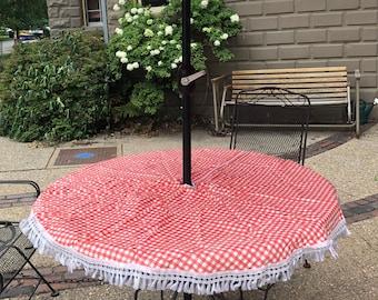 Items Similar To Patio Umbrella Table Terracotta Planter On Etsy