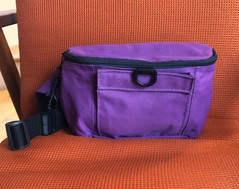 7a9c5f24b8a3 Vintage 90's Purple and Black Fanny Pack, Festival Bag, Hiking Bag