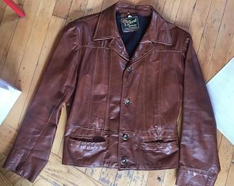 Reed Leather Jacket Etsy