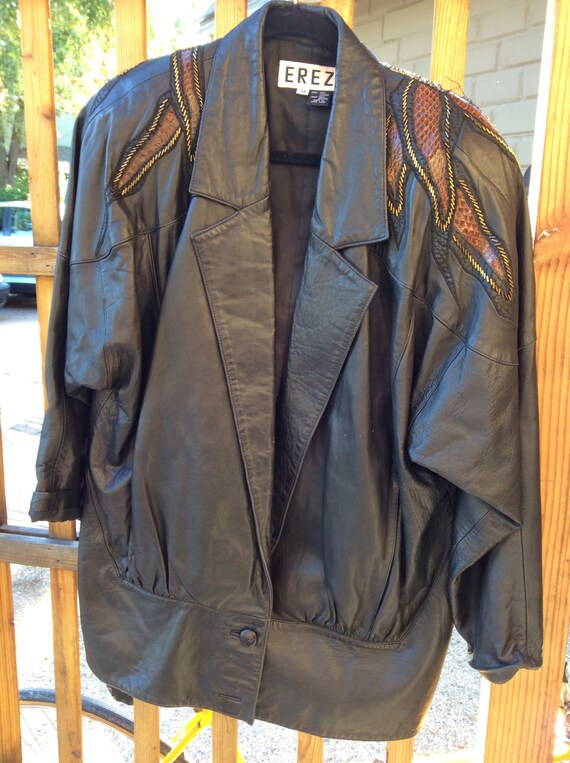 1980's Ladies Leather Jacket