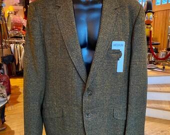90's Retro Men's 40 Wool Blend Plaid Sport Coat