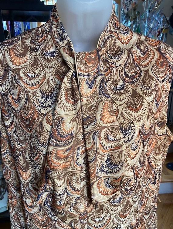 70's Poly Paisley Shift Dress