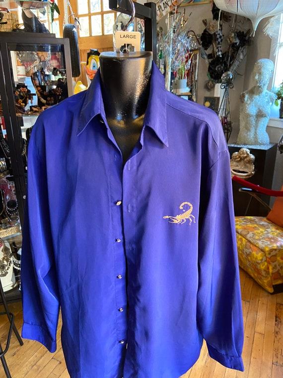 Men's large scorpion long sleeve Scorpion shirt co