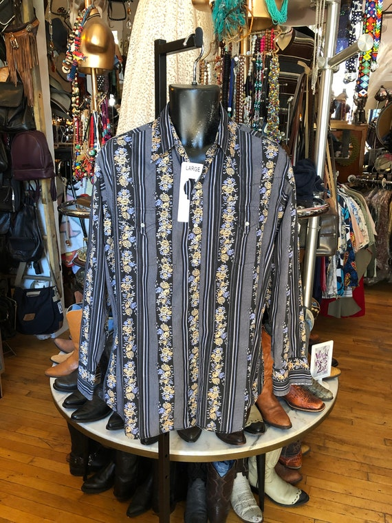 70's Western ELY Men's Large Shirt