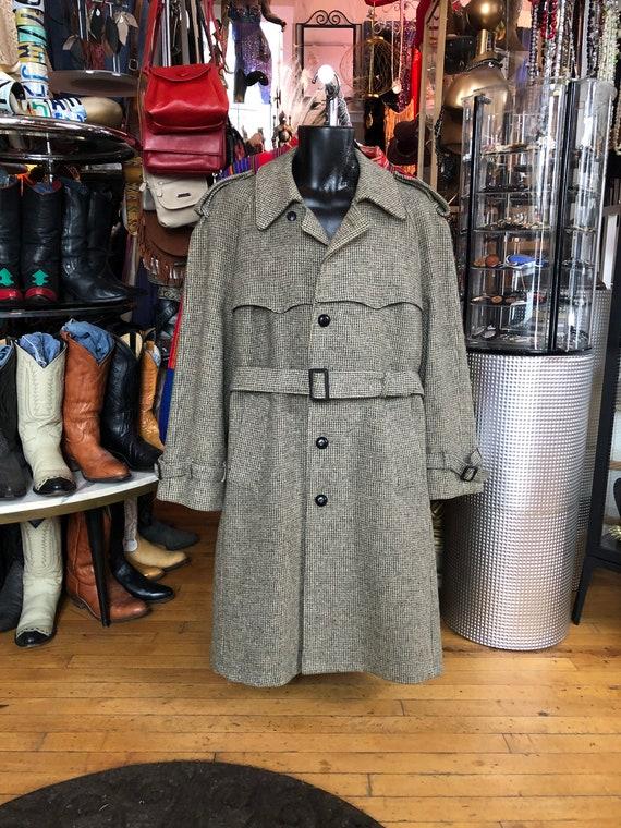 Vintage Men's Long Winter Wool Coat, JOHN WEITZ Ho