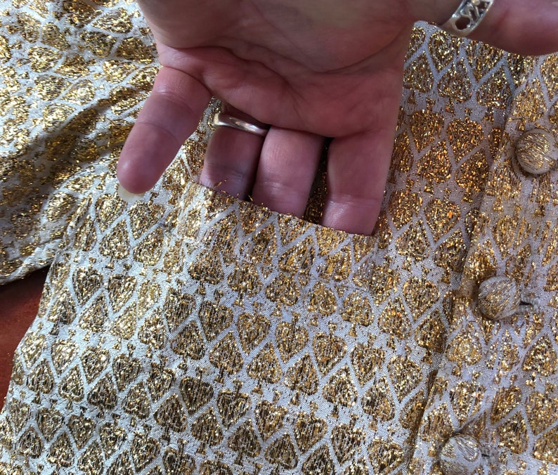 Child\u2019s India Beige and Gold Embroidered Jacket