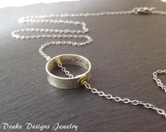 Inspiration inner peace Yoga inspirational jewelry karma necklace