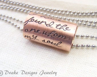 engagement gift necklace i have found the one whom my soul loves anniversary gift for her