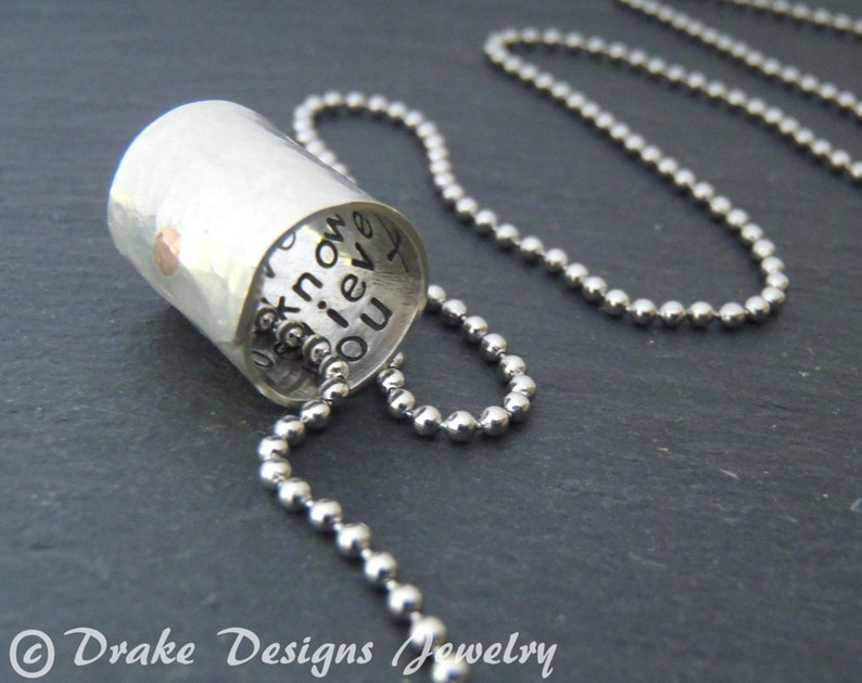 272598388 Womens or Mens personalized necklace inspirational jewelry   Etsy