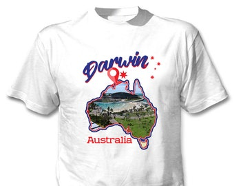 b73f461ca Darwin Australia - Man new cotton white t-shirt. teesquare1st. 5 out of ...