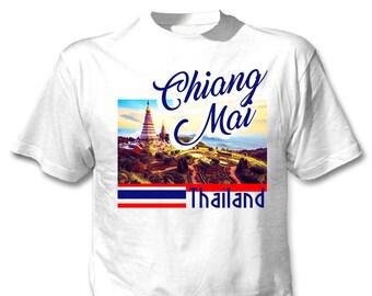 Chiang Mai Thailand - Man new cotton white t-shirt