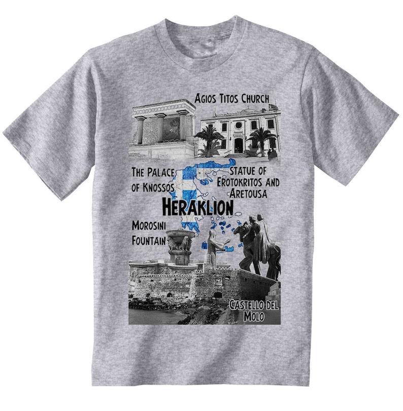 05cc760cb03e Heraklion Greece Man new cotton grey t-shirt