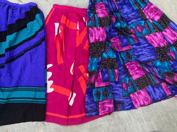 """BUNDLE of MIDI Vintage Skirts // Size 26"""" Waist //"""