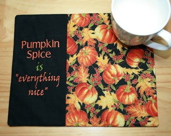 Autumn  Coffee  Tea  Drink  Drinks Mat  Gift  Present Pumpkin Spice and All Things Nice Ceramic Coaster