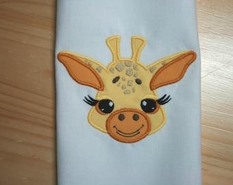 Baby Giraffe Face Applique