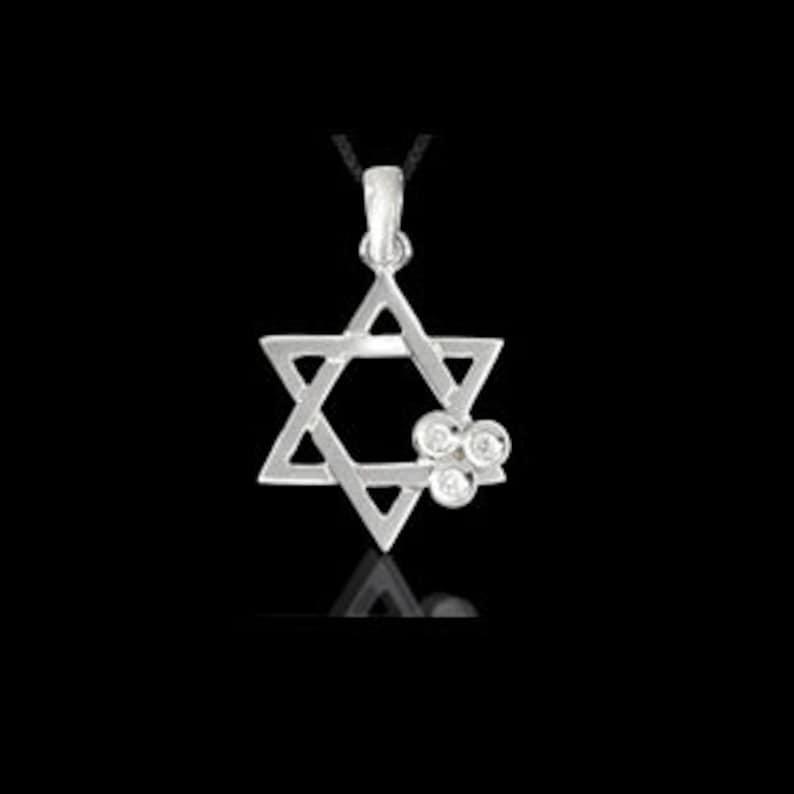 Judaica pendant Jewish Star of David gold /& diamonds pendant 14K yellow gold pendant white gold Star of David Diamond Pendant